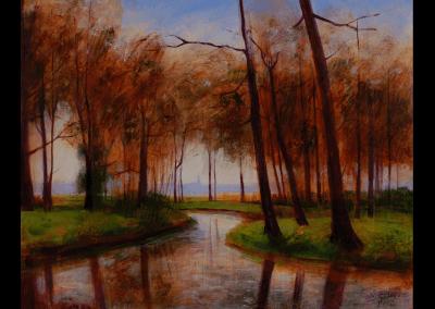 riviertje door polderlandschap