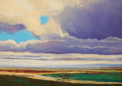 wolken boven vlakte