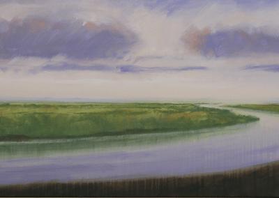rivier in landschap